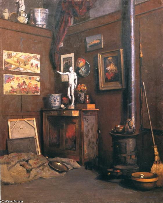 Interior of a Studio, Oil On Canvas by Gustave Caillebotte (1848-1894, France)
