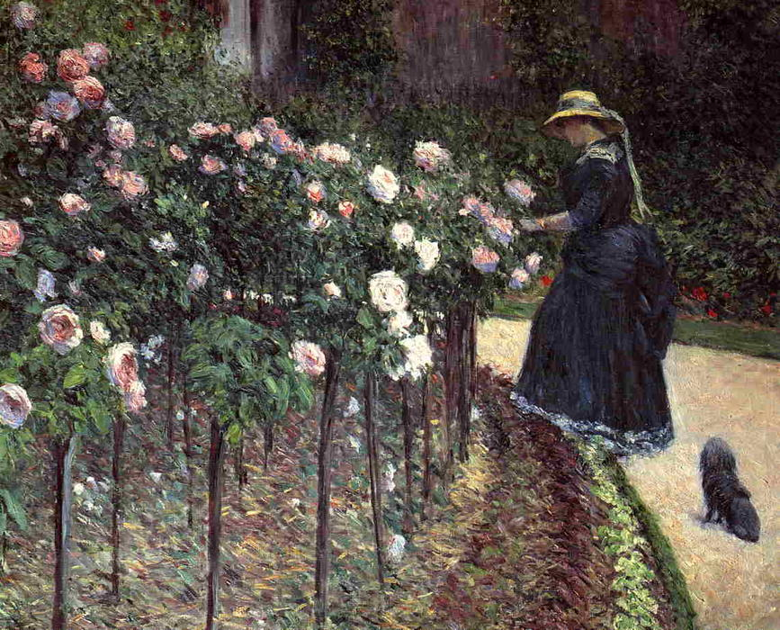 Roses in the Garden at Petit Gennevilliers, Oil On Canvas by Gustave Caillebotte (1848-1894, France)