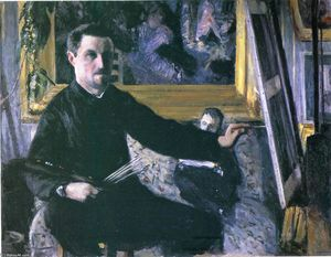Gustave Caillebotte - Self-Portrait with an Easel
