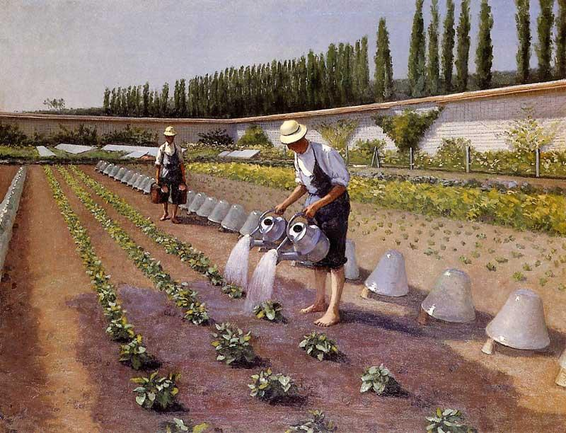 The Gardeners, Oil On Canvas by Gustave Caillebotte (1848-1894, France)