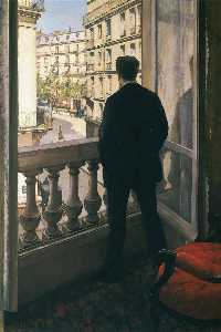 Gustave Caillebotte - Man at the Window - (paintings reproductions)