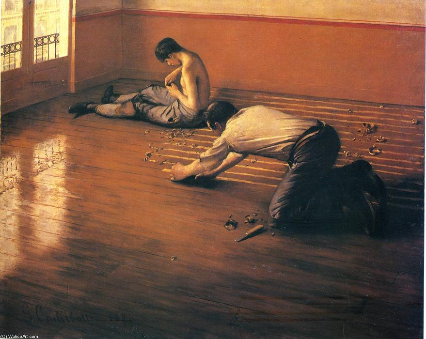 The Parquet Planers, Oil On Canvas by Gustave Caillebotte (1848-1894, France)