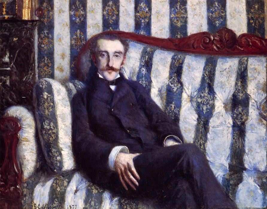 Portrait of a Man, Oil On Canvas by Gustave Caillebotte (1848-1894, France)