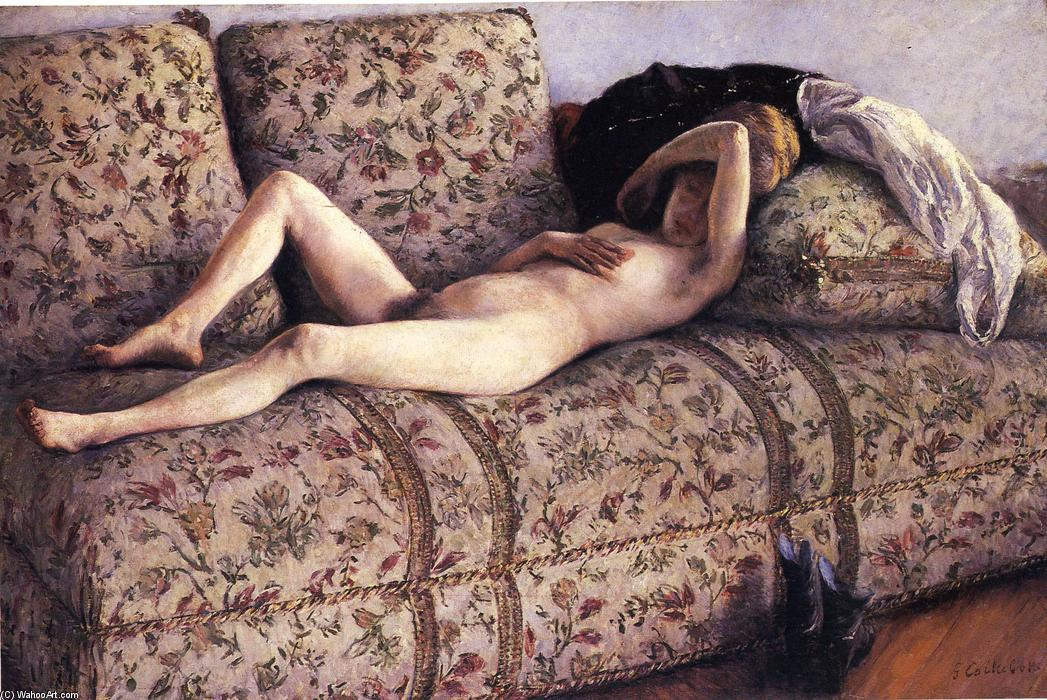 Nude on a Couch, 1890 by Gustave Caillebotte (1848-1894, France) | WahooArt.com