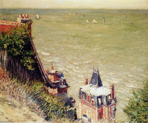 Gustave Caillebotte - The Pink villa at Trouville