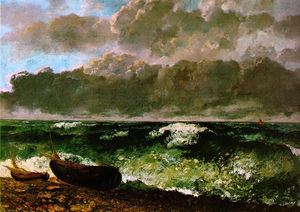 Gustave Courbet - The Stormy Sea