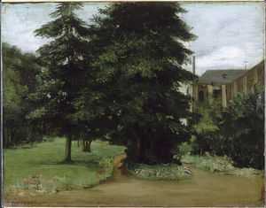 Gustave Courbet - The Garden of the Loos les Lille Abbacy