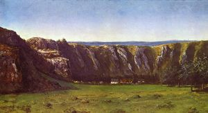Gustave Courbet - Rocky landscape near Flagey
