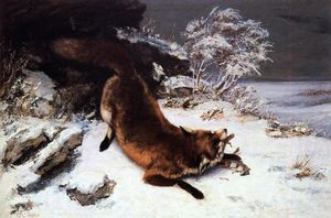Gustave Courbet - The Fox in the Snow