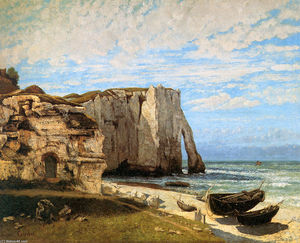Gustave Courbet - The Cliffs at Etretat