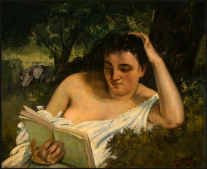 Gustave Courbet - A Young Woman Reading