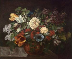 Gustave Courbet - Bouquet of flowers