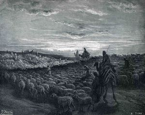 Paul Gustave Doré - Abraham Journeying Into the Land of Canaan