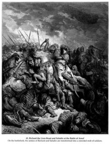 Paul Gustave Doré - Richard I the Lionheart in battle at Arsuf in 1191