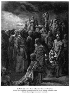 Paul Gustave Doré - Richard I the Lionheart massacres captives in reprisal