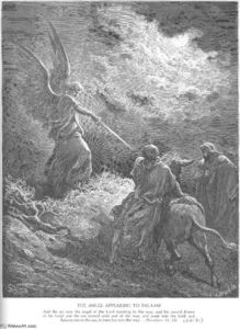 Paul Gustave Doré - An Angel Appears to Balaam