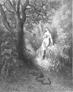 Paul Gustave Doré - Back to the thicket slunk The guilty serpent