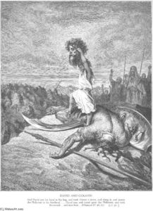 Paul Gustave Doré - David Slays Goliath