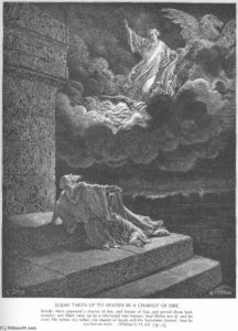 Paul Gustave Doré - Elijah Ascends to Heaven in a Chariot of Fire