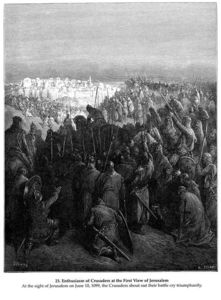 Paul Gustave Doré - Enthusiasm of Crusaders at the First View of Jerusalem