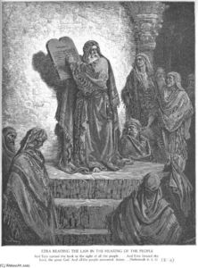 Paul Gustave Doré - Ezra Reads the Law to the People