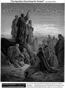 Paul Gustave Doré - The Apostles Preaching The Gospel