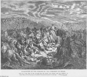 Paul Gustave Doré - The Israelites Slaughter the Syrians