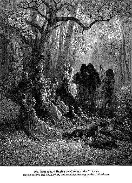 Troubadours Singing the Glories of the Crusades by Paul Gustave Doré (1832-1883, France) | Art Reproductions Paul Gustave Doré | WahooArt.com