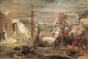 Gustave Moreau - Death Offers Crowns to the Winner of the Tournament