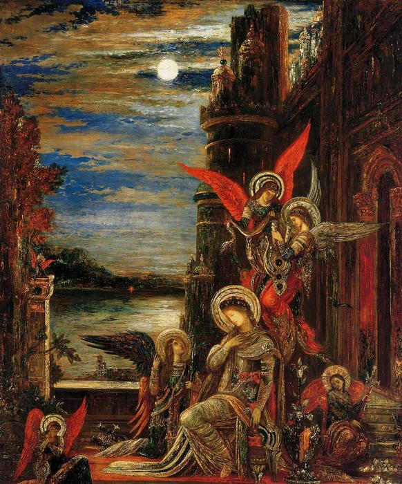 St. Cecilia (The Angels Announcing her Coming Martyrdom), 1897 by Gustave Moreau (1826-1898, France) | Paintings Reproductions Gustave Moreau | WahooArt.com