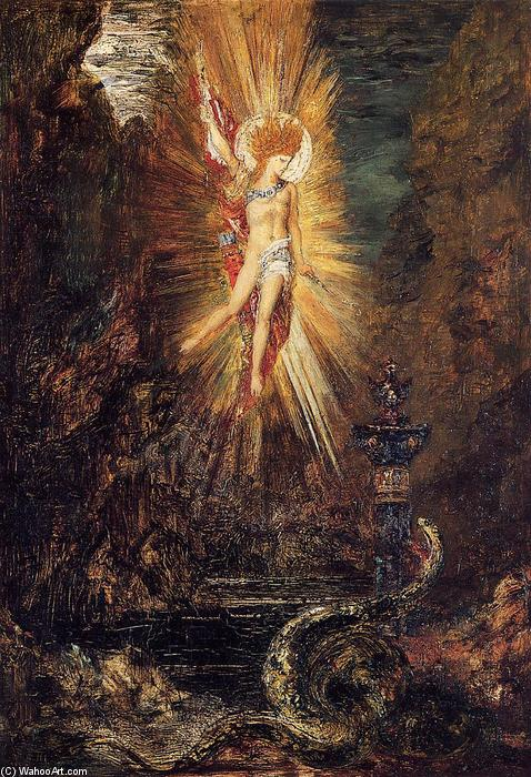 Apollo Vanquishing the Serpent Python, 1885 by Gustave Moreau (1826-1898, France) | Museum Quality Copies Gustave Moreau | WahooArt.com