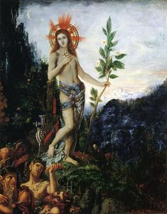 Gustave Moreau - Apollo Receiving the Shepherds' Offerings