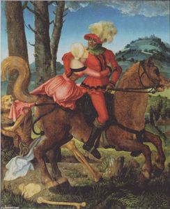 Hans Baldung - Knight, Death and girl