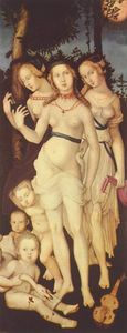 Order Art Reproductions | Harmony or The Three Graces, 1543 by Hans Baldung (1485-1545, Germany) | WahooArt.com