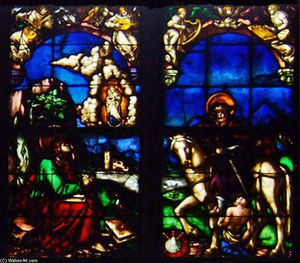 Hans Baldung - Western stained glass window in the Loch Family Chapel