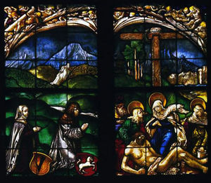 Hans Baldung - The stained glass windows in the home Hofer Family Chapel