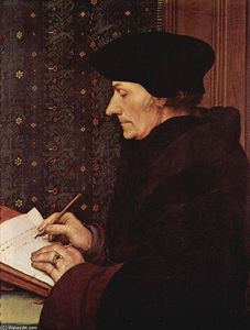 Hans Holbein The Younger - Portrait of Desiderius Erasmus