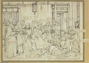 Hans Holbein The Younger - Study for the Family Portrait of Thomas More