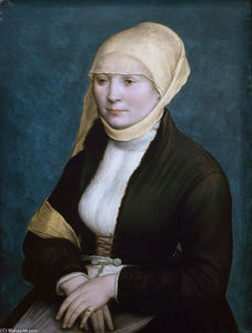 Hans Holbein The Younger - Portrait of a woman from southern Germany .