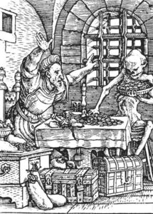 Hans Holbein The Younger - Death and the Miser, from The Dance of Death