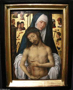 Hans Memling - Ecce Homo in the arms of the virgin