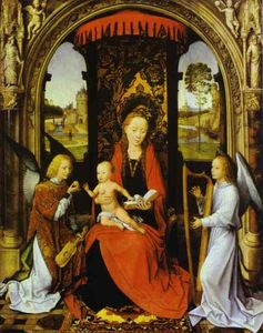 Hans Memling - Madonna and Child with Angels