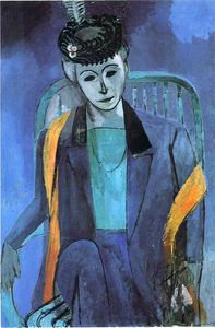 Henri Matisse - Portrait of Mme. Matisse - (Famous paintings)