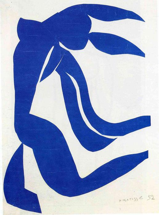 The Flowing Hair, Gouache by Henri Matisse (1869-1954, France)