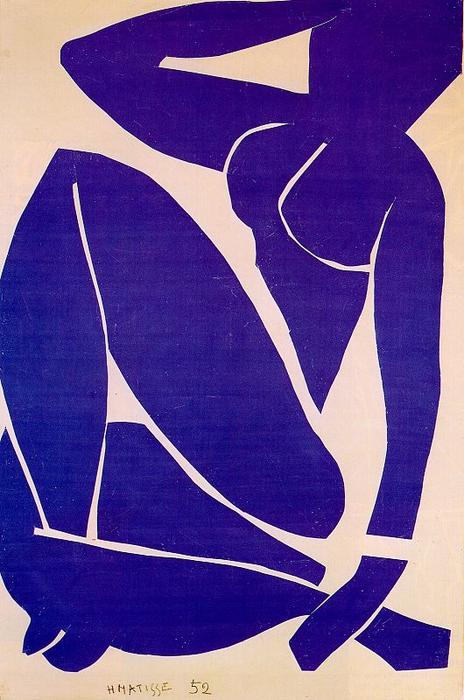Blue Nude III, Gouache by Henri Matisse (1869-1954, France)