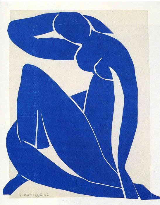 Blue Nude, 1952 by Henri Matisse (1869-1954, France) | Painting Copy | WahooArt.com