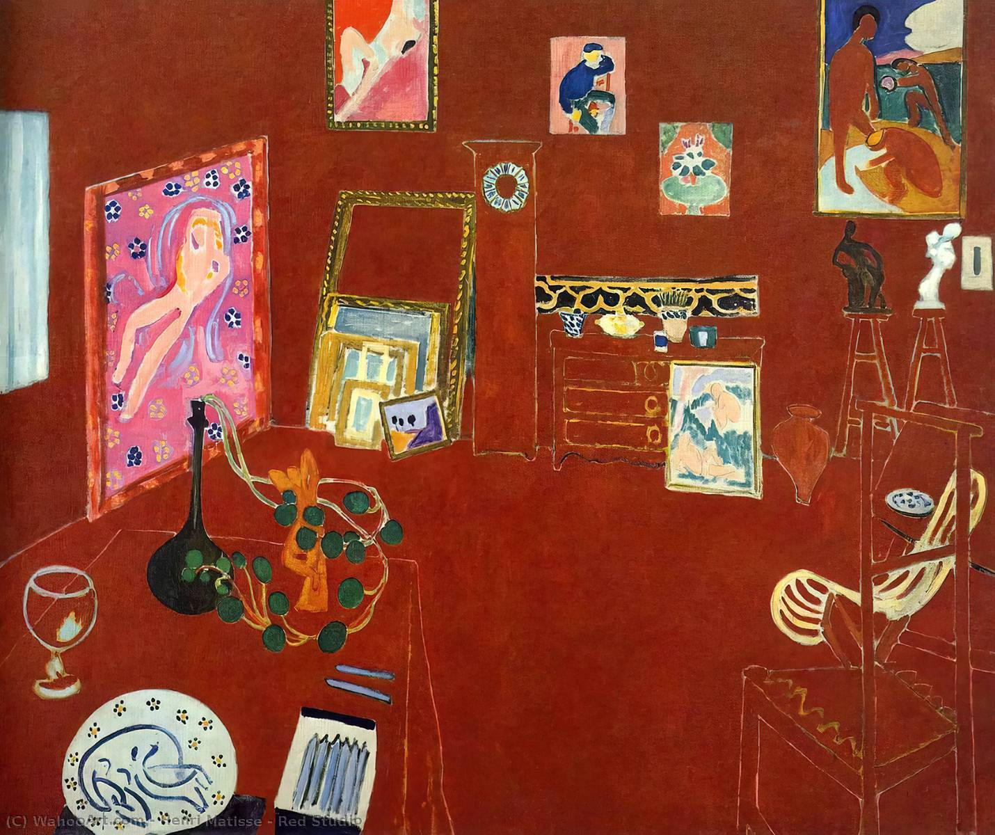 Red Studio, 1911 by Henri Matisse (1869-1954, France)