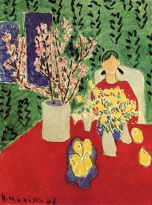 Henri Matisse - Plum Blossoms, Green Background