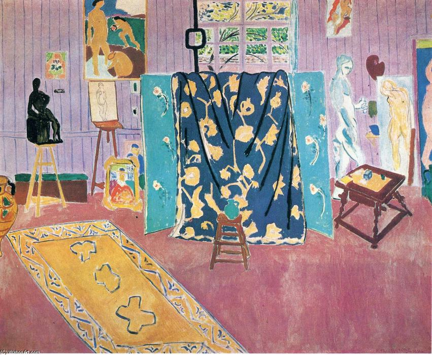 The Pink Studio, 1911 by Henri Matisse (1869-1954, France) | Museum Quality Reproductions | WahooArt.com