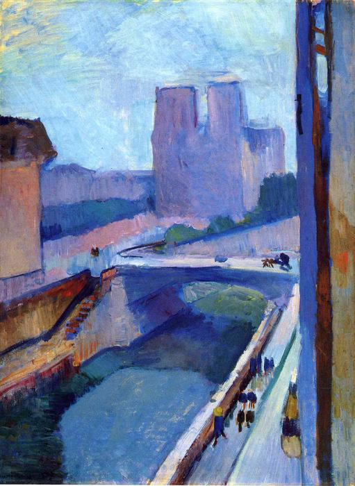 A Glimpse of Notre-Dame in the Late Afternoon, 1902 by Henri Matisse (1869-1954, France)